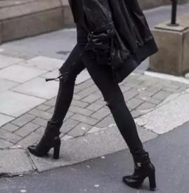 冬天矮个子女生怎么搭配 黑鞋配黑裤子腿再长10CM不是事儿
