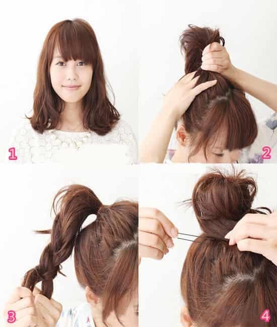 长脸女孩的发型适合甜美的头发。