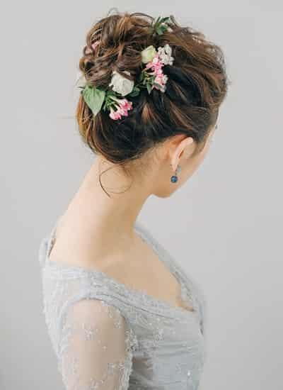 2015年韩国新娘发型圆脸画面优美旗舰韩范