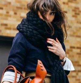 年末重点向,最时髦的围巾与最火的围法