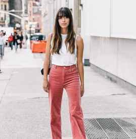 灯芯绒裤子搭配 回溯80s风潮