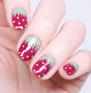 甜美草莓美甲教程 冬日里也要元氣滿滿