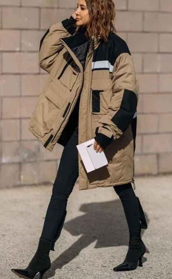 中长款羽绒服搭配什么裤子 和谐的配搭才是冬季的要诀