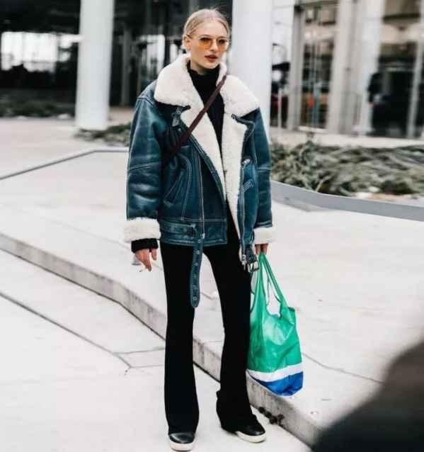 蓝色羊羔绒外套怎么搭配 不想撞衫就选它