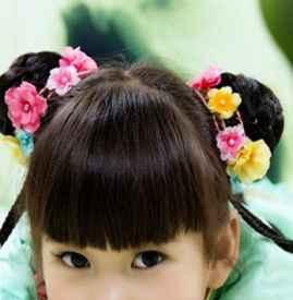儿童汉服发型简单发型 活泼温柔可爱中国风