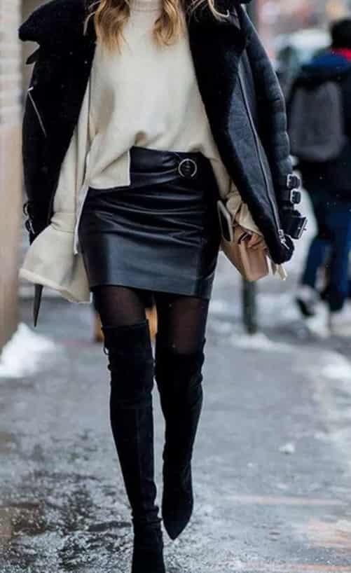黑色长靴怎么搭配 气场十足的点睛之笔