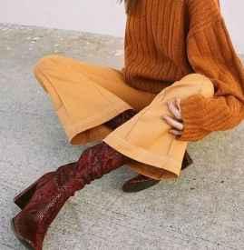 毛呢闊腿褲搭配鞋子 走出來的百搭氣場