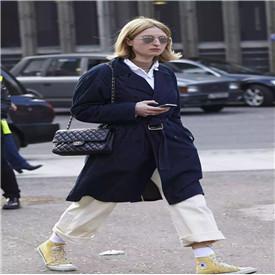 高帮鞋配什么裤子 高帮帆布鞋九分裤帅气满分