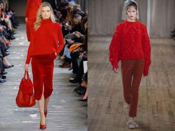 酒红色裤子搭配 酒红色搭配整体感强
