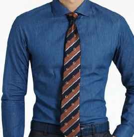 深蓝色衬衫配什么领带 沉稳气场细节体现