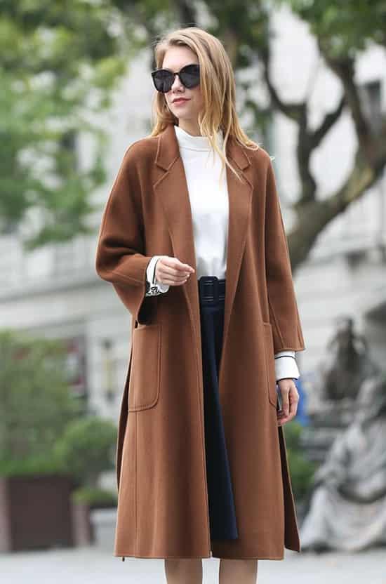 双面绒大衣搭配 双面绒面料质感过目不忘