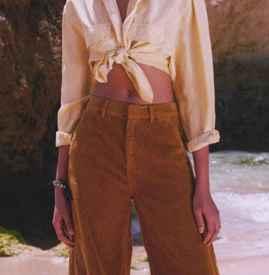 女生條絨褲子配什么上衣 這四種搭配讓你秒變時髦精