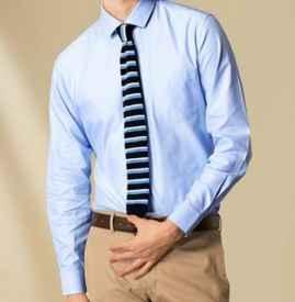 蓝色衬衫配什么领带 这三个搭配技巧对和谈昙都是极好请记住