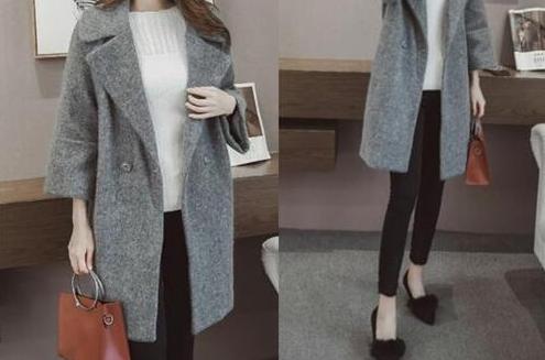 灰色大衣配法 同色系内搭容错率高气质十足