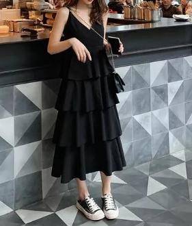 黑色蛋糕裙搭配这6款鞋子会更美!