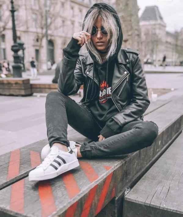 皮夹克搭配 花较少钱穿出酷酷的感觉