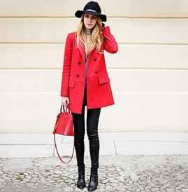红色风衣怎么搭配 八种搭配任你挑选