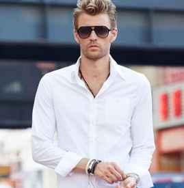 白衬衫搭配男青少年