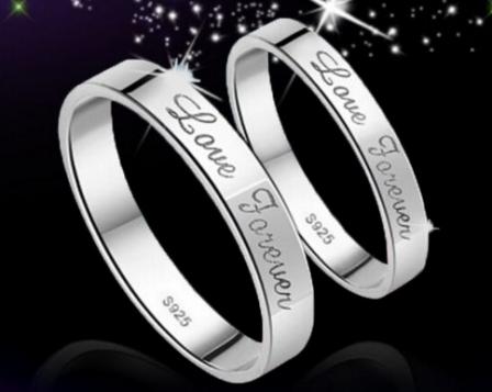 结婚戒指刻什么字好