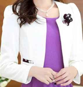 紫色打底裙配什么外套 紫色并沒有這么難駕馭