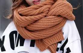冬天戴围巾怎么扎头发 适合戴围巾的几种发型