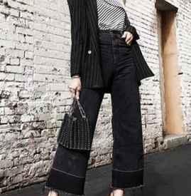 小西裝可以配闊腿牛仔褲嗎 小西裝+闊腿褲的時尚搭配