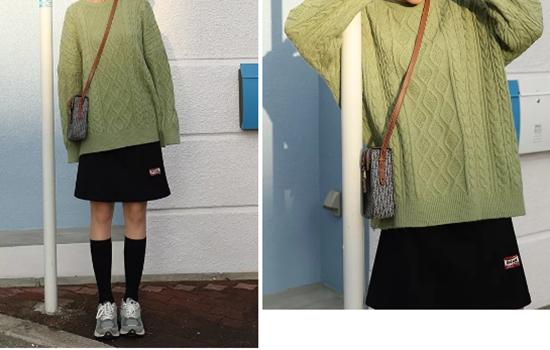 穿上明绿色毛衣 你就是街上最靓的仔