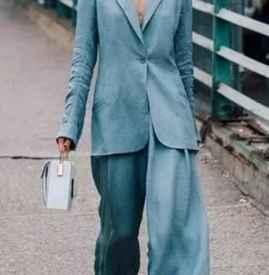 拖地裤配什么上衣外套 斩获超模身材不是梦