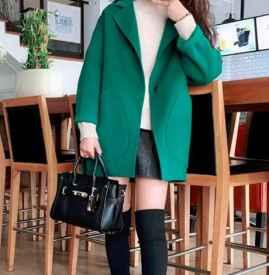 綠色大衣里面應該怎么搭配 這樣穿果然美到爆