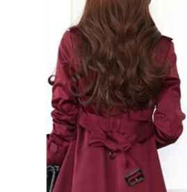呢子大衣后背结的打法 背后腰带的各种系法