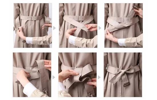衣服飘带的系法图解