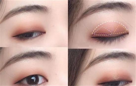 肿泡眼眼影怎么画,肿泡自然的假色低一点插图