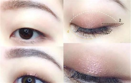 肿泡眼眼影怎么画,肿泡自然的假色低一点插图3