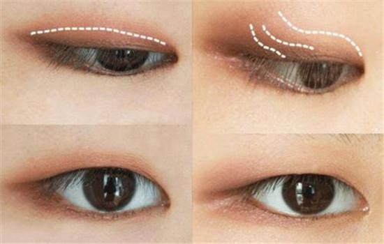 肿泡眼眼影怎么画,肿泡自然的假色低一点插图5
