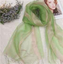 真丝细长围巾围法图解 真丝围巾围法大全