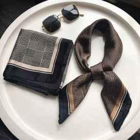 空姐丝巾系法
