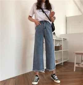 直筒牛仔裤和阔腿牛仔裤区别