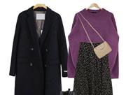 適合成熟女人的顯嫩穿搭 紫色毛衣配啥色外套