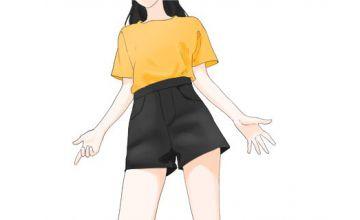 今年流行的短裤 太显腿细了
