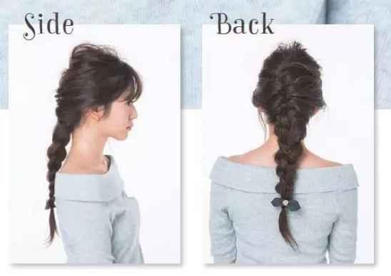 简单编发步骤图解 3款百搭衣服的发型步骤图解