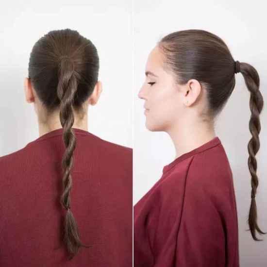 辫子编发教程 辫子发型扎法步骤图解