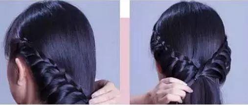 辫子扎法教程图解 长辫子这样扎美丽极了