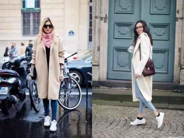 大衣與球鞋搭配圖片 大衣與球鞋的完美搭配方案