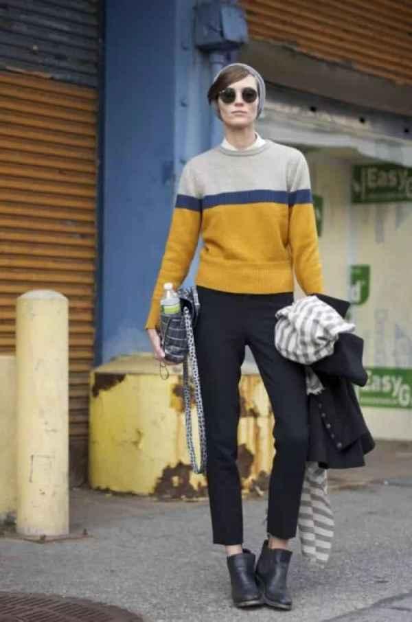 偏韩式风格的冬季穿衣打扮