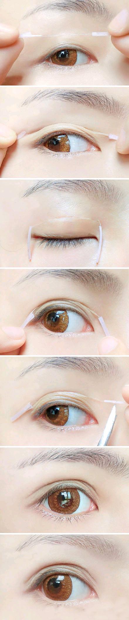 如何贴双眼皮贴图解 贴双眼皮的正确方法介绍